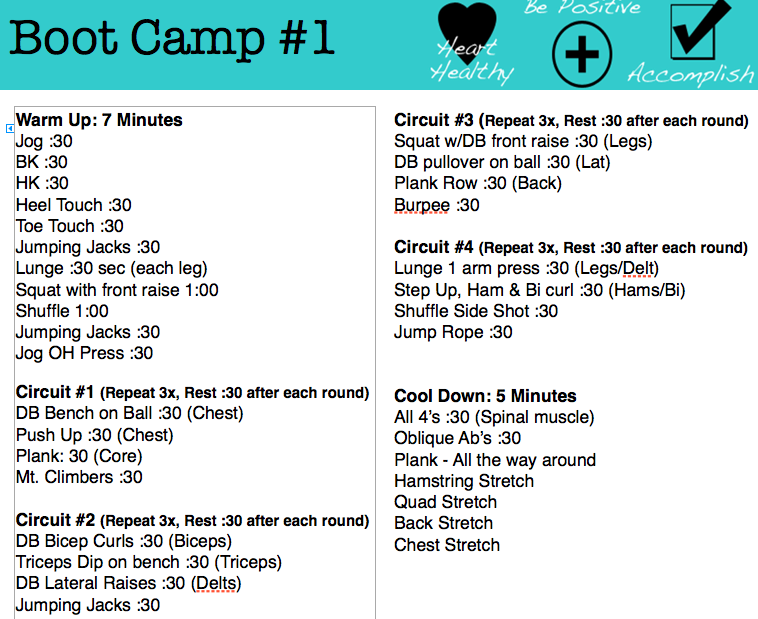 Boot Camp Exercise Plan 40 Minutes Full Body Workout